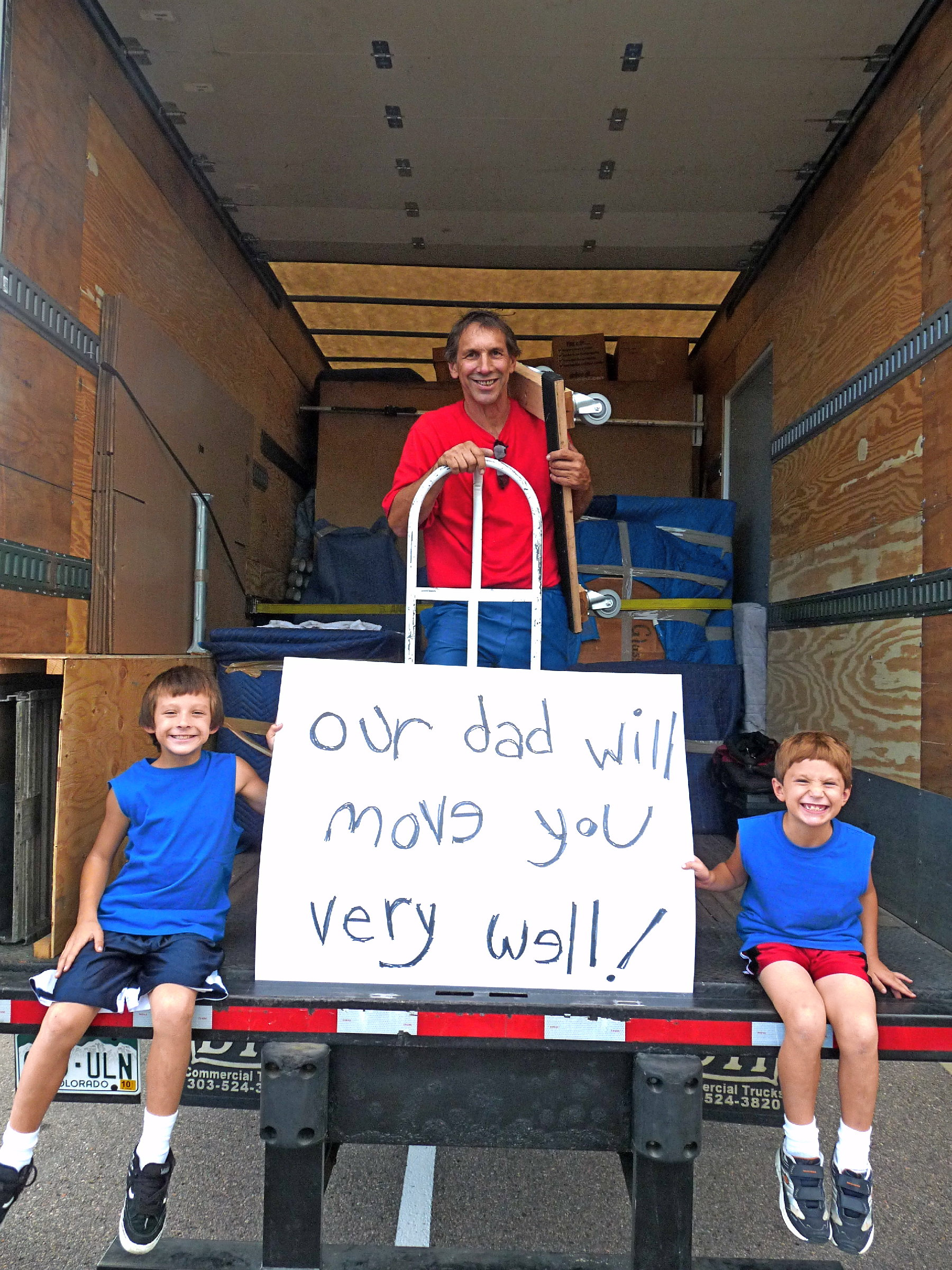 Professional movers helping a customer move in Boulder, CO